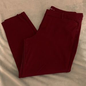 Old Navy Wine Colored Pixie Pants, Size 16